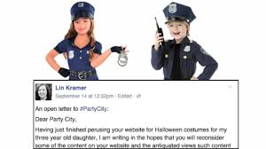 Party Website Halloween Costumes Mom Wrote Letter Sexist Halloween Costumes Party