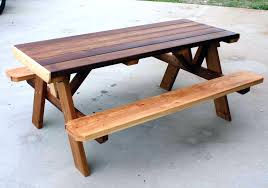 Picnic Table With Benches Plans Picnic Table Bench Plans Pdf Tablecloth With Elastic 30861