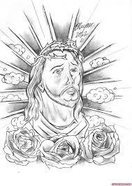 rose flowers and jesus christ tattoo design tattoo viewer com