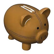 sports themed piggy banks piggy bank jumbo ceramic football pigskin money