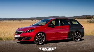 peugeot 308 gti blue peugeot 308 gti sw launched in rendering automotorblog