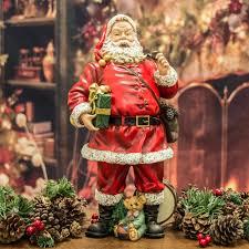 lighted santa s workshop advent calendar santa claus father christmas with presents figurine 37cm santa
