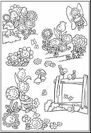 awesome spring garden coloring pages with garden coloring pages
