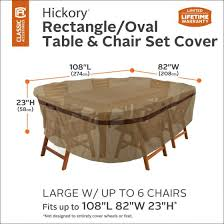 Large Patio Set Cover Hickory Rectangular Oval Patio Table U0026 Chair Set Cover
