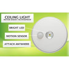 Mr Beams Ceiling Light by Batttery Powered Led Wireless Ceiling Light W Motion Sensor