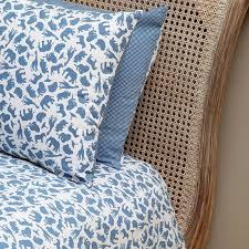 Original Duvet Covers Safari Blue Single And Cot Duvet Cover Set By Em U0026lu