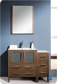Bathroom Vanities Dallas Texas by Fresca Torino 42 Inch Walnut Modern Bathroom Vanity With Side Cabinet