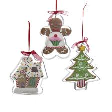 club pack of 12 gingerbread kisses tree and house