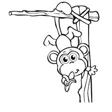 get this monkey coloring pages for kids 60692