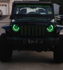 headlights jeep wrangler halo headlights fusion colorshift halo headlight kit flashtech