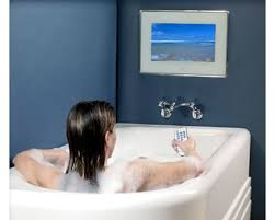 bathroom tv ideas waterproof aquavision tv