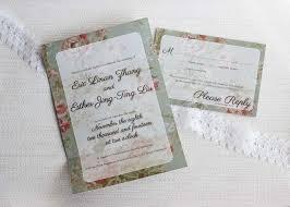 Vintage Wedding Invitation Card Vintage Floral Gatefold Wedding Invitation Be My Guest