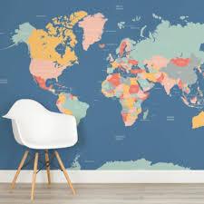 map mural map wallpaper atlas wall murals murals wallpaper