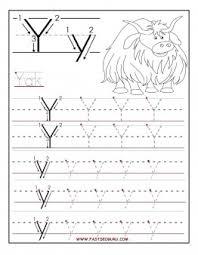 printable letter y tracing worksheets for preschool printable