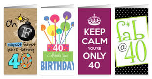 birthday cards for 40th birthdays and other ages