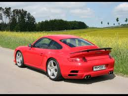 red porsche truck 2009 ruf rt 12 s based on porsche 911 turbo rear angle