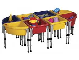 sand and water table with lid ecr4kids eight station sand water table with lids