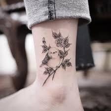 Flower And Bird Tattoo - small bird and flowers tattoo idea bird tattoos pinterest