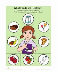 healthy food game worksheet education com