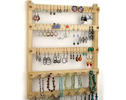 earring necklace organizer images Enthralling diy wood necklace wall jewelry box hanging jewelry