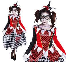 Halloween Costume Harley Quinn Ladies Harlequin Fancy Dress Costume Harley Quinn Halloween