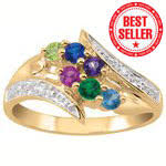 mothers ring 6 stones mothers rings from daniel s jewelers