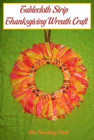 tablecloth thanksgiving wreath craft parenting patch