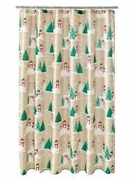 st nicholas square snowman trees fabric shower