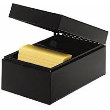 steelmaster steel card file box fits 4 x 6 index