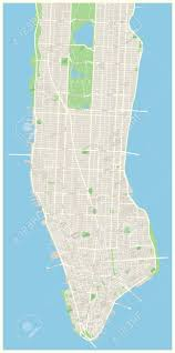 Map Of New York And Manhattan by Highly Detailed Vector Map Of Lower And Mid Manhattan In New