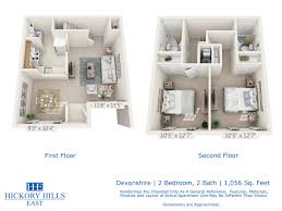 floor plans hickory hills east townhomes 2 bedroom 2 bath the devonshire