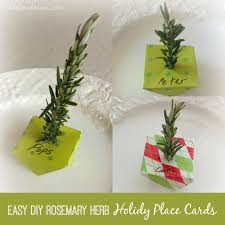 place cards diy easy diy holiday dinner place cards using rosemary twigs