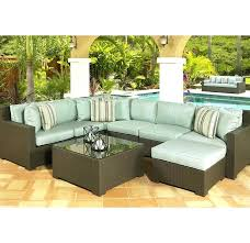 Outdoor Sectional Sofa Blue Outdoor Sectional 5 Wicker Outdoor Sectional Set With