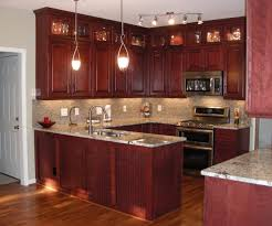 Wondrous Brown Wooden Kitchen Cabinetry by Wondrous Solid Brown Wooden Kitchen Cabinets Design Single Floral