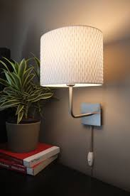 cool wall lamps for bedroom elegantly simple white drum shades