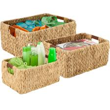 wicker baskets and wicker storage bins organize it