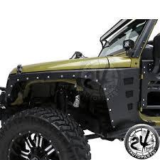 2011 jeep wrangler fender flares 07 17 jeep wrangler jk armor rivet front fender flares with orange