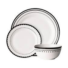 12pc porcelain dinner set dining tableware dinner side plates