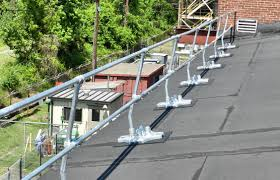 Temporary Handrail Systems Guardrail Systems Installation Safety Railings Rooftop