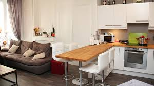 idee cuisine ouverte sejour merveilleux idee amenagement petit salon salle a manger 14 deco