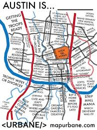Downtown Austin Map by Austin Neighborhood Culture Map U2013 Urbane Map Store