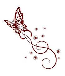 tribal flower butterfly style vector 1534746 by christine