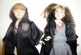 Harry Potter Hermione Lot Of 2 Dolls Hermione Granger Ron Weasley Mattel 2001 Harry