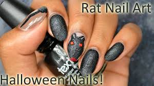 diy halloween rat nail art youtube