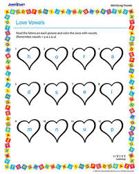 love vowels u2013 free vowels worksheet for kindergarten u2013 jumpstart