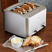 Calphalon 4 Slot Stainless Steel Toaster Toasters Toaster Ovens U0026 Microwaves Williams Sonoma