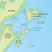 Newfoundland Canada Map by One Ocean Expeditions