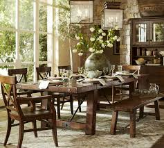 pottery barn benchwright dining table with inspiration picture