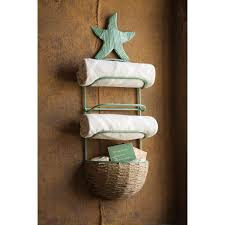 starfish towel starfish towel rack with basket