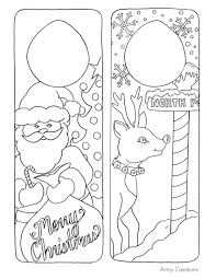 free printable christmas door hangers kids artzycreations